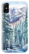 Winter Forest And Mountains IPhone Case