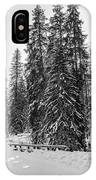 Winter Forest Journey IPhone Case