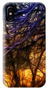 Winter Forest Sunset Oil Style IPhone Case