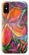 Winter Glow Flower Painting IPhone Case