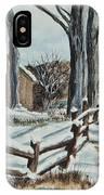 Winter Grazing  IPhone Case