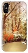 Winter Greets Autumn IPhone Case