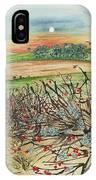 Winter Hedgerow IPhone Case