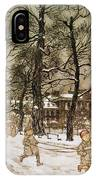 Winter In Kensington Gardens IPhone Case