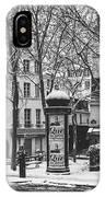 Winter In Paris IPhone Case