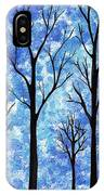 Winter In The Woods Abstract IPhone Case