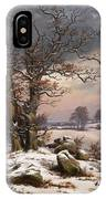 Winter Landscape. Near Vordingborg IPhone Case