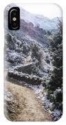 Winter Mountain Path IPhone Case