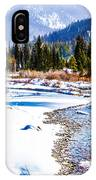 Winter On The River IPhone Case