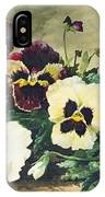 Winter Pansies IPhone Case