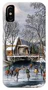 Winter Pastime, 1870 IPhone Case
