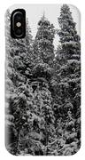 Winter Pine Spires IPhone Case