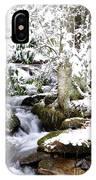 Winter Rushing Stream IPhone Case