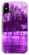 Winter Scene In Violet IPhone Case