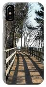 Winter Shadows At The Bridge IPhone Case