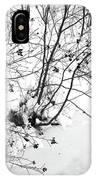 Winter Shrubs, New Hampshire IPhone Case