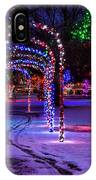 Winter Spirit At Locomotive Park IPhone Case