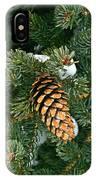 Winter Spruce IPhone Case