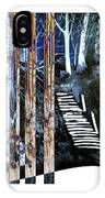 Winter Stairs In Blue IPhone Case