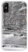 Winter Stream And Woods IPhone Case