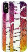 Winter Sunset Birch IPhone Case