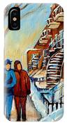 Winter Walk In Montreal IPhone Case