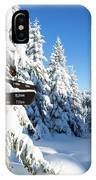 winter way in the Upper Harz IPhone Case