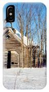 Winter Wisconsin Barn IPhone Case