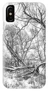 Winter Woods On A Stormy Day 2 Bw IPhone Case