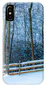 Winters Day - Pisgah Forest Nc IPhone Case