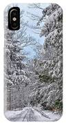 Wintery Country Road IPhone Case