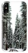 Wintry Forest Drive IPhone Case