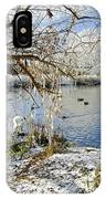 Wintry River At Newton Road Park IPhone Case