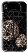Wire Basket And Balls Still Life IPhone Case
