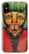 Wise Cat IPhone Case