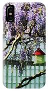 Wisteria And Birdhouse IPhone Case
