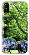 Wisteria On Lawn IPhone Case