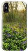 Wistow Wood Bluebells 1 IPhone Case