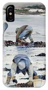 Wnter Clam Diggers IPhone Case
