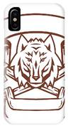 Wolf Cross Bones Banner Retro IPhone Case