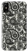 Wolf Gray Paisley Design IPhone Case