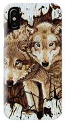 Wolves In Hiding IPhone Case