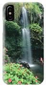 Woman Beneath Waterfall IPhone Case