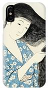Woman Combing Her Hair Kami Sukeru Onna IPhone Case