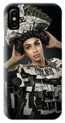 Woman Dressed In Price Tag IPhone Case