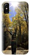 Woman In The Falling Leaves IPhone Case