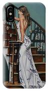 Woman On A Staircase 3 IPhone Case