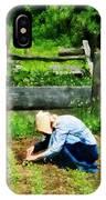 Woman Planting Garden IPhone Case