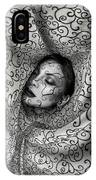 Woman Surrounded By Cloth Of Paisley Prints IPhone Case