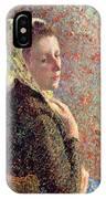 Woman Wearing A Green Headscarf IPhone Case